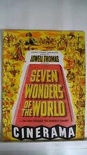 SEVEN WONDERS OF THE WORLD Movie Souvenir Program LOWELL THOMAS Cinerama 1956