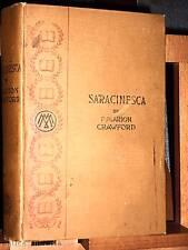 1900 F. Marion Crawford SARACINESCA / The Macmillan co.