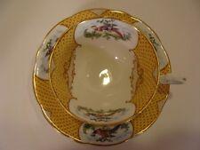 "Beautiful 1925 AYNSLEY ""SCALA"" Cup & Saucer PHEASANTS w Fancy Decoration"