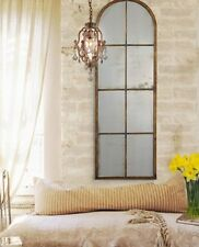 PARIS FRENCH TUSCAN Old World Loft Style ANTIQUED ARCHED WALL MIRROR