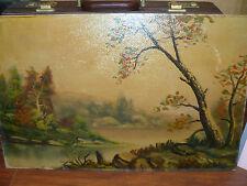 pre 1900 Antique Oil Board Shepherd in the Hill by Walter C. Norvell 1878 - 1944