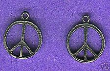 100 wholesale lead free pewter peace symbol charms 1005
