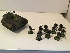 Warhammer 40k Astra Militarum Cadian Shock Troops Veterans Plus Chimera Painted