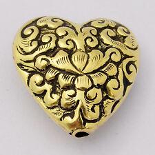 Brass Lotus Bead Repousse Tibetan Nepalese Artisan Handmade Ethnic Tribal BDS246