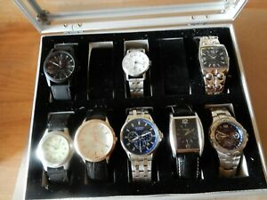 Case of 8 Wristwatches, Mens