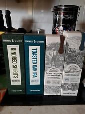 4 INNIS & GUNN  BEER BOTTLES LIMITED EDITION EMPTY with boxes