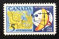 Canada #479 MNH, Meteorology - Weather Map and Instruments Stamp 1968