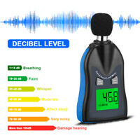 Digital Noise Meter Sound Level Meter LCD Noise Tester 30-130dB Decibel HP-882C