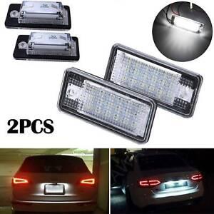 2PCS 18LED Number License Plate Lamp White Light For Audi A3 S3 A4 A6 B6 B7 Q7