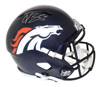 Champ Bailey Autographed/Signed Denver Broncos Speed Replica Helmet JSA 21207