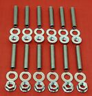 Sbc Chevy Intake Manifold Stud Kit Bolts Stainless Steel 283 305 327 350 400 Tpi