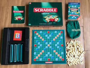 Mattel Scrabble Original Board Game & Chambers original Scrabble Words Book