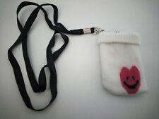 Chaussette Housse Pochette pour Téléphone Portable MP3 MP4 Coeur rouge