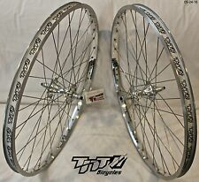BMX BICYCLE WHEEL SET SUN TNT BICYCLES CHROME, FIRST GEN REVOLVER, 24 inch - NEW