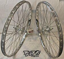BMX BICYCLE WHEEL SET SUN TNT BICYCLES CHROME, FIRST GEN REVOLVER, 24 inch - NEW