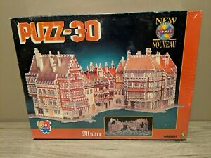 Wrebbit Puzz-3D Alsace 959 Piece Foam & Paper Puzzle 25x17x11 Brand New Sealed