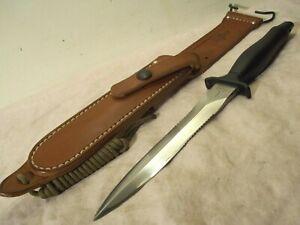1993~GERBER~MARK II~TACTICAL DAGGER FIGHTING KNIFE +CUSTOM PELOZA LEATHER SHEATH