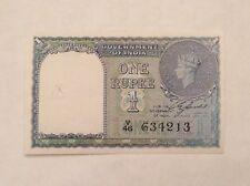 - British India One Rupee 1940 Banknote George VI P 25 a