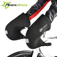 RockBros Winter Cycling Gloves Road Bike Bar Handlebar Warm Mittens Mitts Black