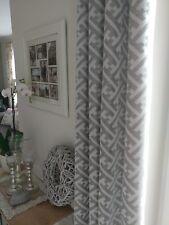 4 Stück Vorhang Gardine Ösenvorhang grau weiß