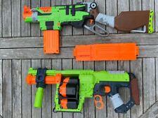 NERF Zombie Strike Doominator and Slingfire bundle with extra 24 magazine