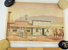 Original California Gold Label Beer Cowboys Day Off Advertising Western Poster