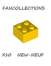LEGO- X10 Yellow Brick 2 x 2  , 3003  NEUF