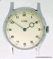 Oversized 1940s Medana 377 Mens Stainless Steel Wrist Watch Nice Dial For Repair