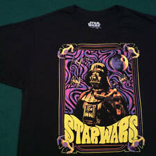 Men's T-Shirt (XL) Star Wars Darth Vader (GLOWS in Blacklight) Black - New