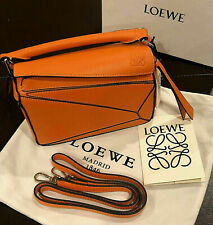 LOEWE WOMAN'S ORANGE LUXURY LEATHER PUZZLE MINI BAG ~  ~ RARE!!!