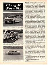 1964 CHEVY II NOVA SIX STATION WAGON ~ ORIGINAL 2-PAGE ARTICLE / AD