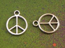 25 Peace Symbols Peace Sign Charm Pendants Peaceful Charms for Jewelry Making