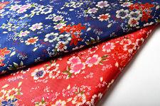 BY 1/2YARD JAPANESE STYLE KIMONO DAMASK JACQUARD BROCADE FABRIC : SAKURA FLOWER
