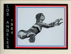 Olympics chrome postcard 1984 Los Angeles, California CA Gymnastics