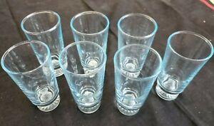 🔥🔥 L👀K Vintage Mid Century Modern Blue Tinted Weighted Juice Glasses