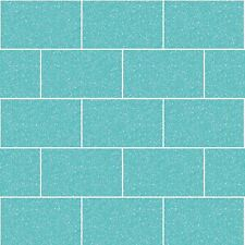 CROWN LONDON TILE GLITTER WALLPAPER AQUA - M1122 BATHROOM