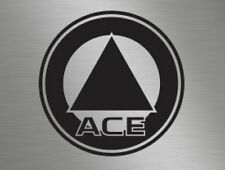Ace Caravans Roundel Logo Front Back Side Vinyl Badge Decals Stickers Lettering