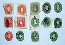 14 TIMBRES RARES US POSTAGE 1887 1 & 2 Cents Washington Envelope Stamp