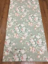"MIMI DESIGNS MIMI TOO SHOWER CURTAIN TAUPE FLORAL GREEN PEACH 70"" X 70 CLOTH"