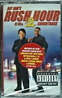 """RUSH HOUR 2 """"THE SOUNDTRACK"""" 2001 CASSETTE TAPE ~RARE~ *SEALED* ~FREE SHIPPING~"""