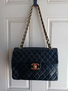 Chanel Single Flap Maxi black GHW #0885025 VINT 2003