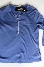 BETTY BARCLAY PULLOVER Pulli 36 blau m silber, T-Shirt Longshirt S, GB 10, US 6