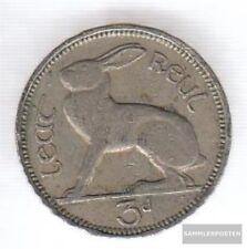 Irlande 12 1946  cuivre-Nickel 1946 3 Pence Hase