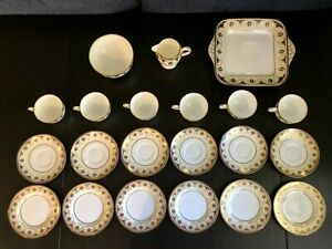 Wedgwood 21pc Tea Set - W1618 - cups,saucers,sugar, cake EXCELLENT CONDITION