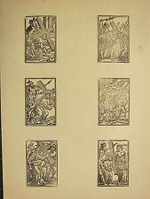 Antigua Imagen Religiosa medieval xilografía impresión ~ Jesús Cruz De Transporte