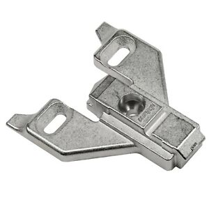 Blum Clip Top 0mm Face Frame Cabinet Hinge Mounting Plate 175L6600.22 w/Screws