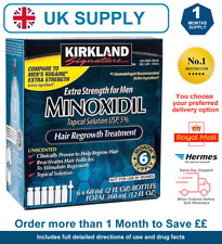 FREE Delivery  6 MONTH SUPPLY BOX OF KIRKLAND 5% MINOXIDIL UK STOCK EXP 2021