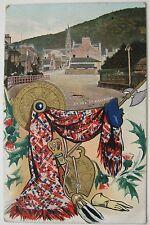 ST BALLATER BRIDGE ABERDEENSHIRE 1918 POSTCARD TARGE SPORAN B & R CAMERA SERIES