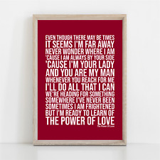 More details for celine dion the power of love song lyrics poster print wall art