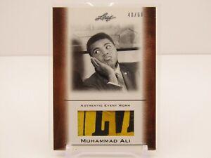 MUHAMMAD ALI 2010 LEAF EVENT WORN MEMORABILIA 48/60